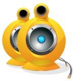 ilustração audio do vetor do orador da Olá!-tecnologia Imagens de Stock Royalty Free