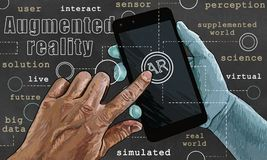 Ilustração aumentada da realidade Fotografia de Stock