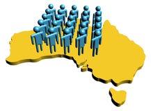 Ilustração australiana da mão-de-obra Imagens de Stock Royalty Free