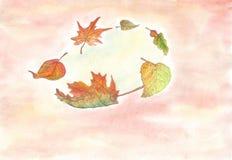 Ilustração Autumn Leaves ilustração royalty free