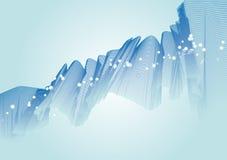 Ilustração azul da onda Fotografia de Stock