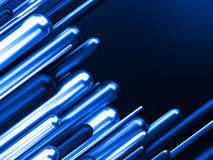 Ilustração azul do negócio 3d do sucesso da finança do negócio Foto de Stock
