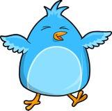 Ilustração azul do vetor do pássaro Foto de Stock Royalty Free
