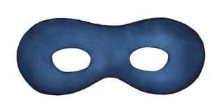 Ilustração azul do watercolour da máscara protetora da noite fotografia de stock