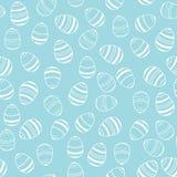Ilustração azul e branca do teste padrão dos ovos da páscoa Imagem de Stock Royalty Free