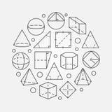 Ilustração básica da geometria Foto de Stock