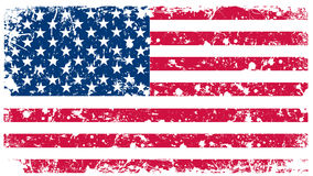Ilustração - bandeira dos EUA no estilo retro Foto de Stock Royalty Free