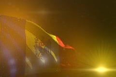 Ilustração bonita da bandeira 3d da celebração - ilustração colorida de Moldova fez dos pontos que acenam em amarelo - foco macio ilustração royalty free