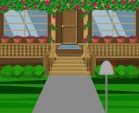 Ilustração bonita da casa Vetor Projeto liso ilustração do vetor