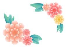 Ilustração bonita da decoração do ornamento floral Imagens de Stock Royalty Free