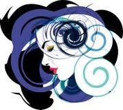 Ilustração bonita da face da mulher Foto de Stock Royalty Free