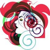 Ilustração bonita da face da mulher Imagem de Stock