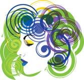 Ilustração bonita da face da mulher ilustração do vetor