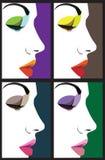 Ilustração bonita da face da mulher ilustração royalty free