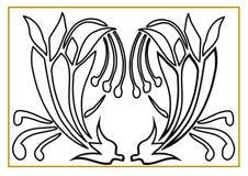 Ilustração bonita de duas rosas que podem ser coloridas ilustração stock