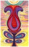 Ilustração bonita de uma flor ilustração royalty free