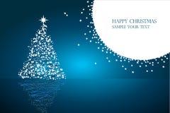 Ilustração bonita do Natal com texto Fotografia de Stock