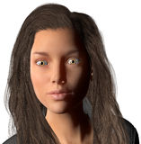 Ilustração bonita do retrato da mulher isolada Foto de Stock Royalty Free