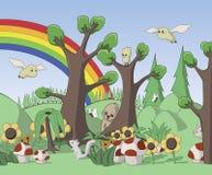 Ilustração bonito da floresta Foto de Stock Royalty Free