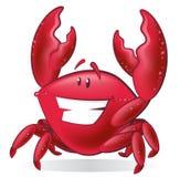 Ilustração bonito do caranguejo dos desenhos animados Fotografia de Stock