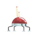 Ilustração bonito do vetor do caráter da aranha do robô dos desenhos animados Fotografia de Stock Royalty Free