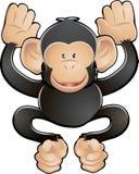 Ilustração bonito do vetor do chimpanzé Fotografia de Stock