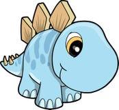 Ilustração bonito do vetor do Stegosaurus Imagens de Stock Royalty Free