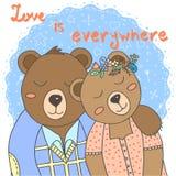 Ilustração bonito do vetor dos ursos Foto de Stock