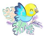 Ilustração bonito do vetor do pássaro Fotografia de Stock Royalty Free