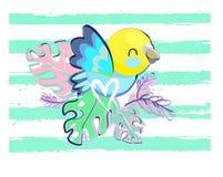 Ilustração bonito do vetor do pássaro Fotos de Stock Royalty Free