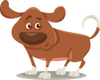 Ilustração bonito dos desenhos animados do cão Foto de Stock Royalty Free
