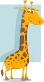 Ilustração bonito dos desenhos animados do girafa Fotografia de Stock