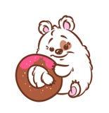Ilustração bonito dos desenhos animados do hamster Foto de Stock Royalty Free
