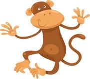 Ilustração bonito dos desenhos animados do macaco Imagem de Stock
