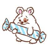 Ilustração bonito dos desenhos animados dos doces do hamster Imagens de Stock Royalty Free