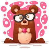 Ilustração bonito, engraçada do urso Caráter animal fotografia de stock royalty free