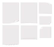 Ilustração branca do vetor da página em branco Ilustração Stock