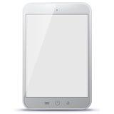 Ilustração branca do vetor do tablet pc Fotografia de Stock Royalty Free