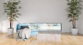 Ilustração brilhante moderna da rendição do apartamento 3D dos interiores Foto de Stock Royalty Free