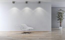 Ilustração brilhante moderna da rendição do apartamento 3D dos interiores Fotos de Stock
