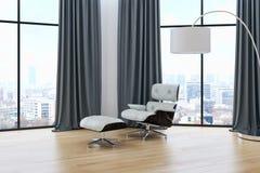 Ilustração brilhante moderna da rendição do apartamento 3D dos interiores Fotografia de Stock Royalty Free