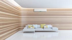 Ilustração brilhante moderna da rendição do apartamento 3D dos interiores Imagens de Stock