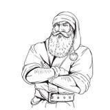 Ilustração brutal do estilo dos desenhos animados de Santa Claus Imagens de Stock