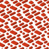 Ilustração cúbica da construção pré-escolar sem emenda isométrica do fundo do teste padrão dos blocos 3d do construtor ilustração stock