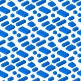 Ilustração cúbica do vetor da construção pré-escolar sem emenda isométrica do fundo do teste padrão dos blocos 3d do construtor ilustração royalty free