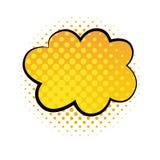Ilustração cômica do duddle do vetor do estilo da bolha da nuvem ilustração stock