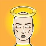 Ilustração calva real do vetor da pessoa santamente do anel de Angel Gold ilustração royalty free