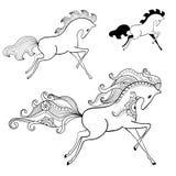 Ilustração - cavalo de corrida Foto de Stock
