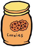 Ilustração cerâmica do vetor do frasco de cookie Fotografia de Stock
