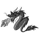 Ilustração chinesa do dragão Foto de Stock